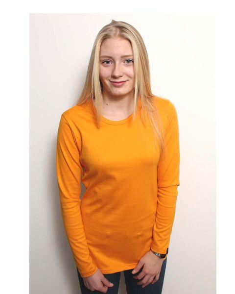 Damen | Langarm T-Shirt mit Rundhalsausschnit, Made in Germany