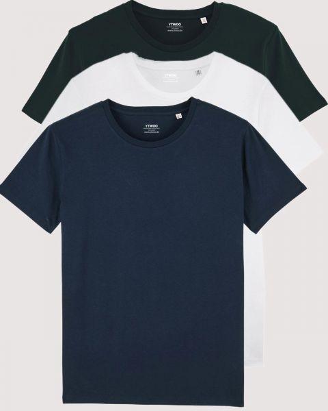 3er Pack | Basic T-Shirts 155 g/m2 | viele Farbkombi