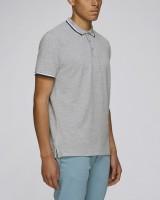 Herren | Poloshirt aus Bio-Baumwolle mit Kontrastreifen