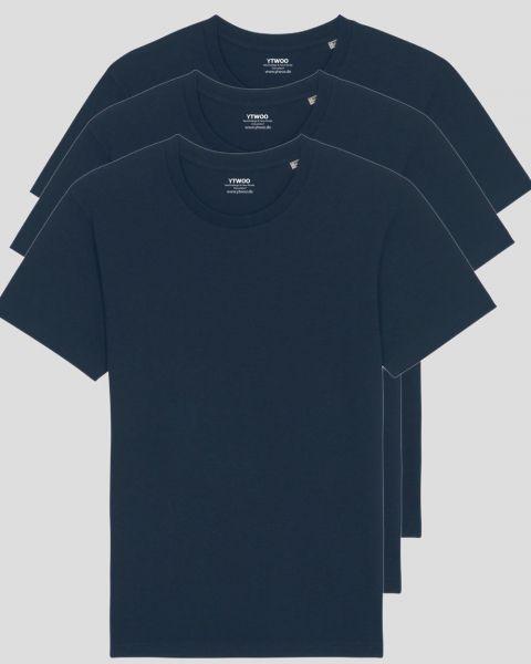 3er Pack Basic T-Shirts | Unisex | 150 g/qm Bio-Baumwolle