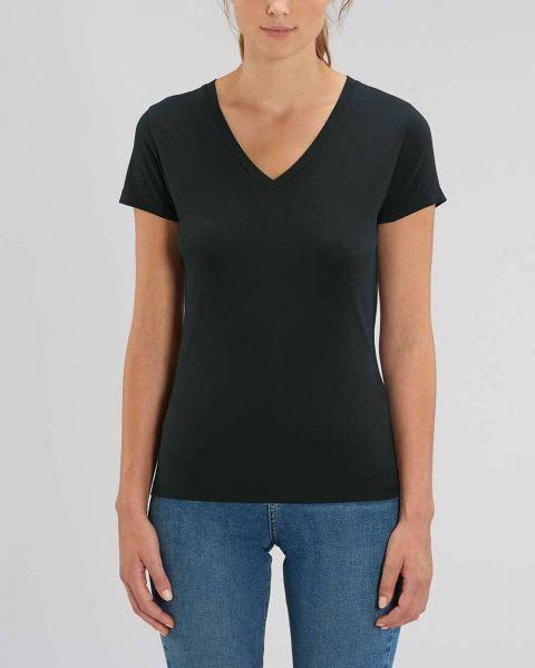 YTWOO Damen |Basic T-Shirt mit V-Ausschnitt