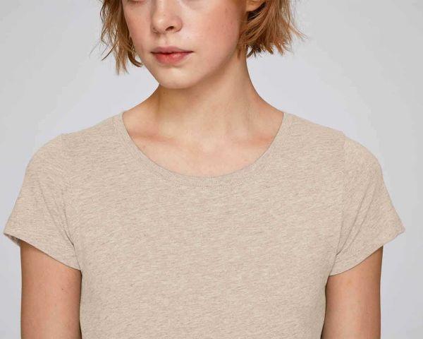 Damen T-Shirt meliert aus 100% Bio-Baumwolle