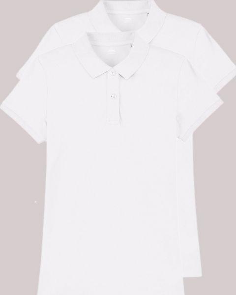 2er Pack Poloshirts für Damen aus Bio-Baumwolle