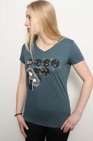 Damen V-T-Shirt aus 100% Baumwolle (Bio) | Flying Pusteblume