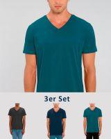 3er Pack V T-Shirt für Männer | Fair & Nachhaltig