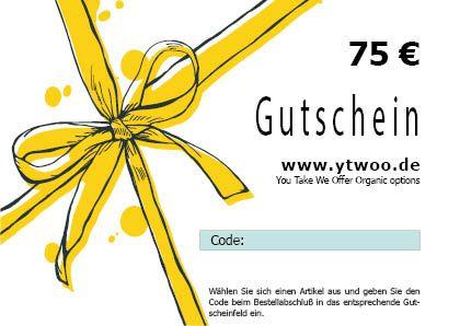 75 Euro Geschenkgutschein