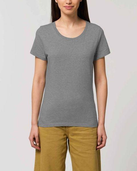 Emma | Anliegendes Damen T-Shirt aus Bio-Baumwolle |meliert