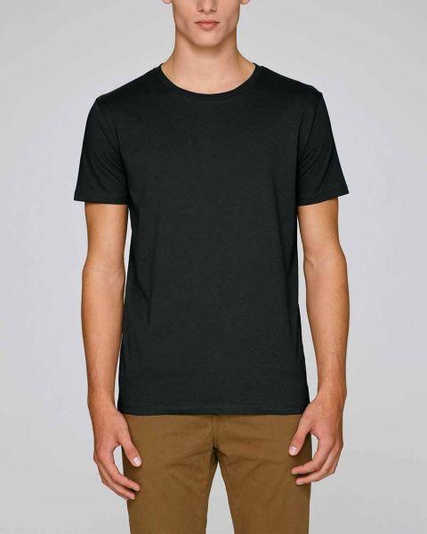 Männer T-Shirt in Schwarz aus 100% Bio-Baumwolle, 155 g/m²