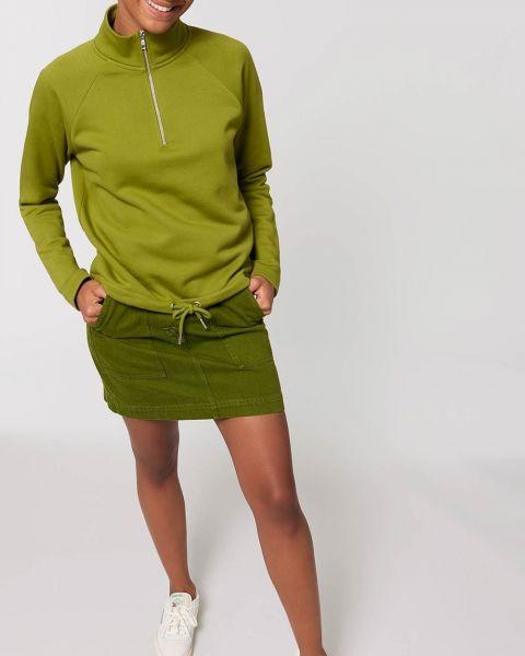 Sweatshirt mit hohem Kragen und Reißverschluß