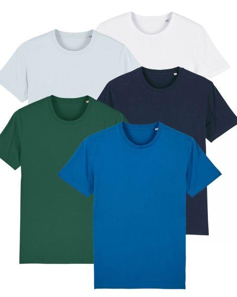 Herren | 5er Pack Basic T-Shirt | mittelschwer | in verschiedene Farben