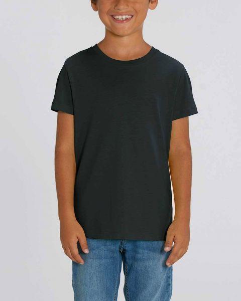 Kinder | Basic T-Shirt | Weiß & Schwarz | 100% Bio Baumwolle
