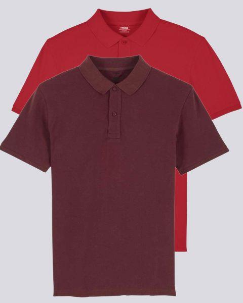 2er Pack Herren Poloshirt aus Bio-Baumwolle
