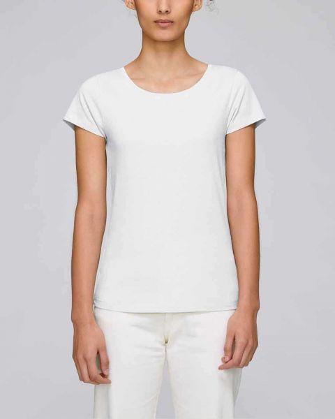 Bio T-Shirt für Damen aus 100% Bio-Baumwolle in Weiß