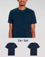 2er Pack | Männer T-Shirt Basic | schwere Bio-Baumwolle | 220g/m²