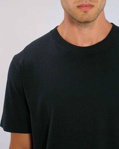 Männer T-Shirt Basic | Schwarz | schwere Bio-Baumwolle | 220g/m² | Fair Trade
