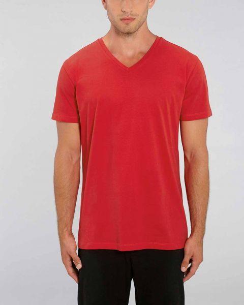 Bio-T-Shirt mit V-Ausschnitt aus 100% Bio-Baumwolle, fair gehandelt