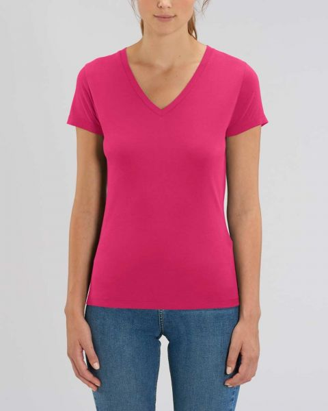 YTWOO Damen | Basic T-Shirt mit V-Ausschnitt