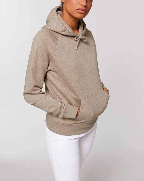 Hoodie für Damen, leicht meliert, Bio-Qualität