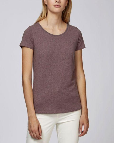 Lara | Damen T-Shirt aus Bio-Baumwolle, meliert