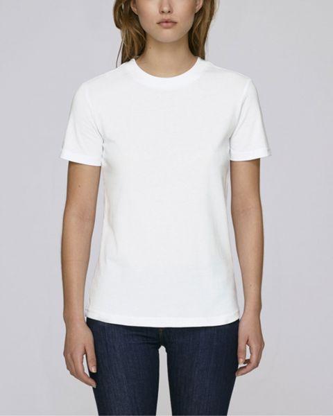 Damen | T-Shirt aus Bio-Baumwolle mit breitem Kragen