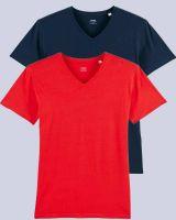 2er Pack V T-Shirt für Männer | Fair & Nachhaltig