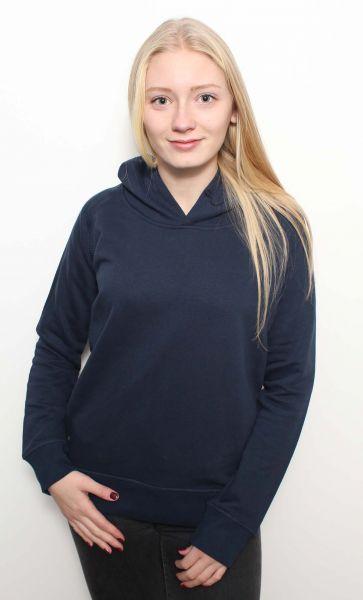 Ina | Damen Hoodie Navyblau Bio-Baumwoll Mix