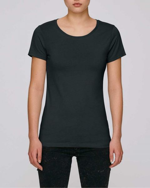 Bio T-Shirt für Damen aus 100% Bio-Baumwolle in Schwarz