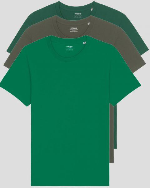 3er Pack Basic T-Shirts   Unisex   150 g/qm Bio-Baumwolle