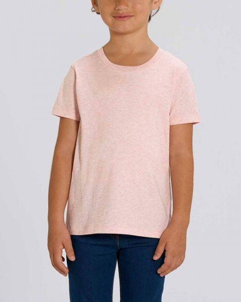 Kinder | Basic T-Shirt | unifarben meliert | 100% Bio Baumwolle