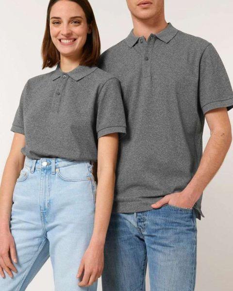 Unisex Poloshirt aus Bio-Baumwolle | meliert