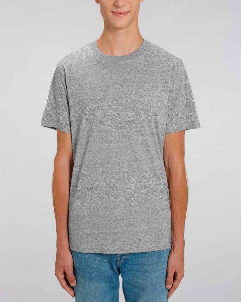 Männer T-Shirt Basic | Grau meliert | schwere Bio-Baumwolle | 220g/m² | Fair Trade