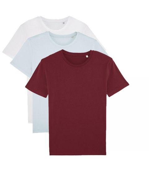 Herren   3er Pack Basic T-Shirt   mittelschwer   in 3 Farben