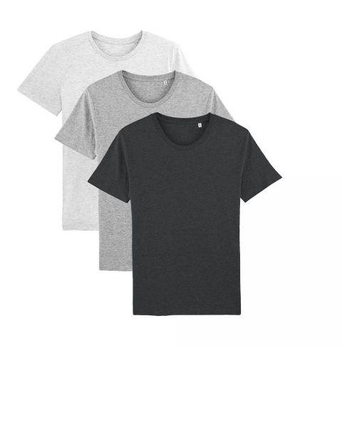 Herren | 3er Pack Basic T-Shirt | mittelschwer