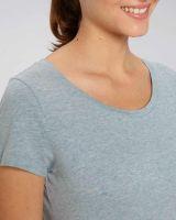 YTWOO | Damen T-Shirt meliert | aus leichter Bio-Baumwolle