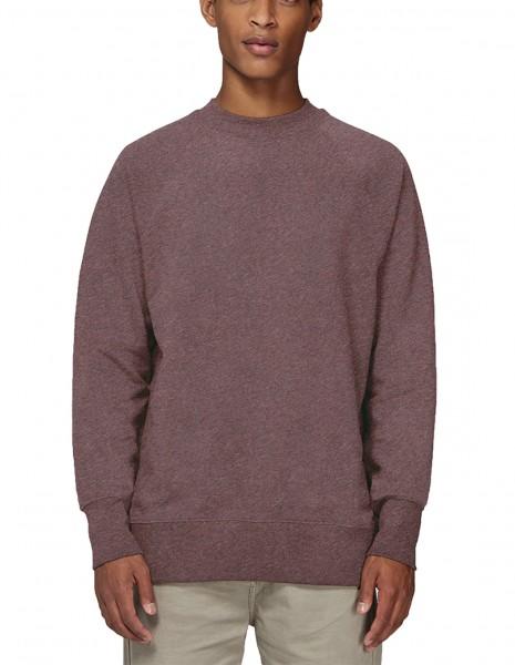 Herren   Sweatshirt mit hohem Halsabschluss aus 100% Bio-Baumwolle