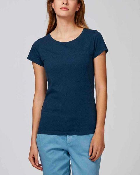Damen T-Shirt, meliert aus 100% Bio-Baumwolle