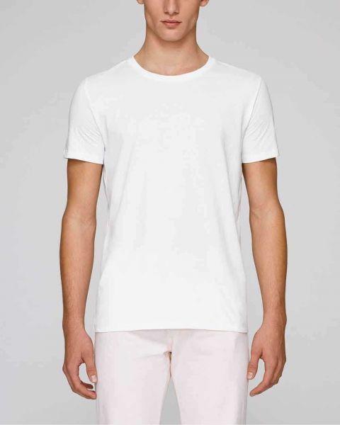 Männer T-Shirt in Weiß aus 100% Bio-Baumwolle, 155 g/m²