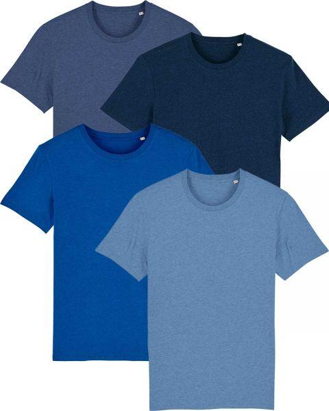 Herren | 4er Pack Basic T-Shirt | mittelschwer | in verschiedene Farben