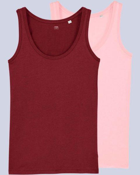 2er Pack Tops | Damen | Bio Baumwolle | 2 Farbkombinationen