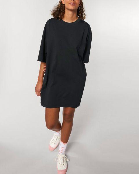Weit geschnittenes T-Shirt Kleid aus Bio Baumwolle
