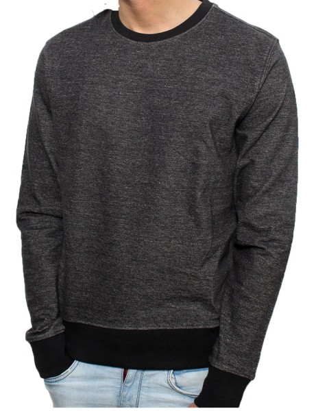 Scott Sweatshirt aus Bio-Baumwoll Schwarz-Melange
