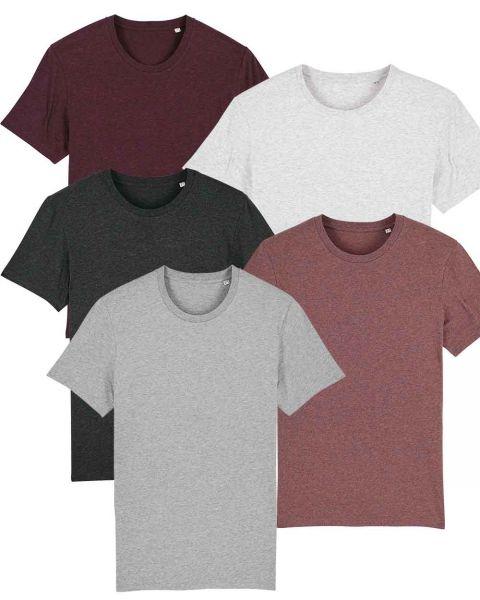 Herren | 5er Pack Basic T-Shirt | mittelschwer |in verschiedene Farben