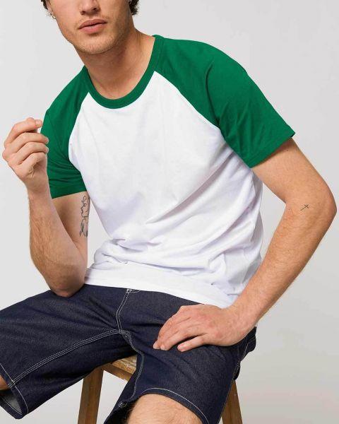Unisex | Baseball Bio T-Shirt, zweifarbig