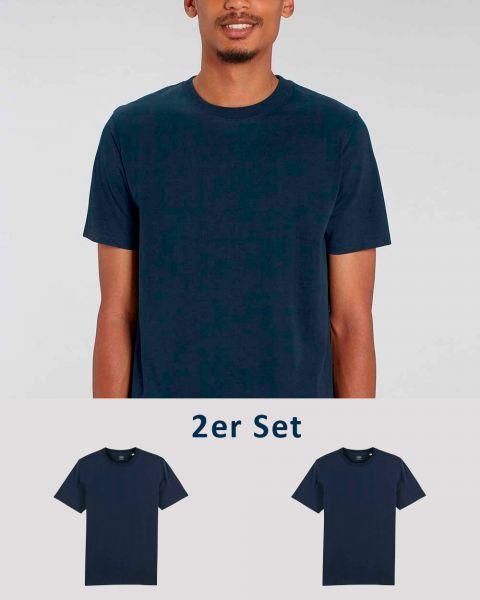 2er Pack   Männer T-Shirt Basic   schwere Bio-Baumwolle   220g/m²