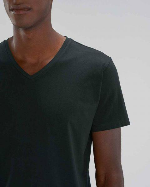 V-Ausschnitt | T-Shirt für Männer in Schwarz | Bio Baumwolle